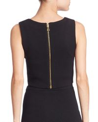 Alice + Olivia - Black Aretha Cropped Top - Lyst