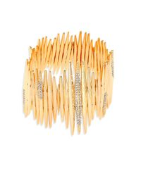 ABS By Allen Schwartz - Metallic Going Coastal 12k Goldplated Stretch Bracelet - Lyst