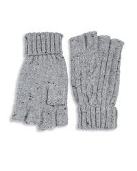 Saks Fifth Avenue   Gray Wool Blend Gloves   Lyst
