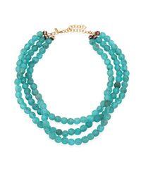 Jonesy Wood | Blue Sara Aqua Multi-strand Necklace | Lyst