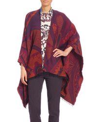 Etro - Purple Printed Knit Wrap - Lyst