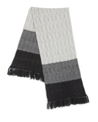 Saks Fifth Avenue | Gray Tri-color Cashmere Scarf | Lyst
