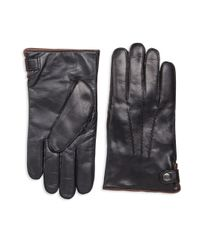 Saks Fifth Avenue   Black Nappa Touch Tech Leather Gloves for Men   Lyst