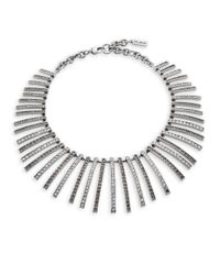 St. John | Metallic Paved Necklace | Lyst