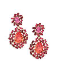 Oscar de la Renta - Pink Goldplated Resin Earrings - Lyst