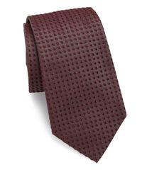 Giorgio Armani   Red Square Knit Silk Tie for Men   Lyst