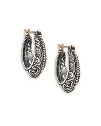 Konstantino | Metallic Penelope Sterling Silver Filigree Hoop Earrings/1 | Lyst