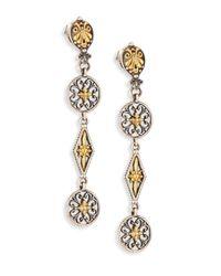 Konstantino | Metallic Penelope 18k Yellow Gold & Sterling Silver Drop Earrings | Lyst