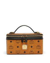 MCM | Yellow Heritage Coated Canvas Rockstar Vanity Case | Lyst