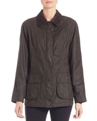 Barbour | Blue Classic Beadnell Waxed Cotton Jacket | Lyst