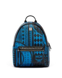 MCM - Blue Stark Coated Canvas Backpack - Lyst