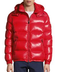 Moncler | Red Maya Shiny Puffer Jacket for Men | Lyst
