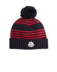 Moncler | Red Virgin Wool Knit Cap | Lyst
