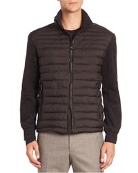 Strellson | Black Four Seasons Knitted & Quilted Isocloud Jacket for Men | Lyst