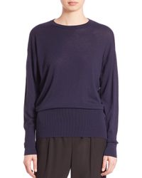 Vince | Blue Merino Wool Crewneck Sweater | Lyst