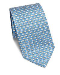 Ferragamo   Blue Elephant Print Silk Tie for Men   Lyst