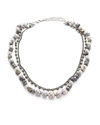 Chan Luu - Gray 8-10mm Grey Pearl Beaded Triple Layer Necklace - Lyst