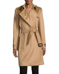 Burberry | Blue Tempsford Cashmere Wrap Trenchcoat | Lyst