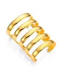 Aurelie Bidermann | Metallic Esteban Cuff Bracelet | Lyst