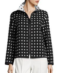 Akris Punto | Multicolor Grid Check Zip-front Jacket | Lyst