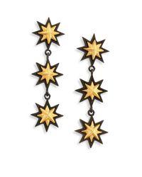 Stephanie Kantis | Metallic Triple Sunburst Drop Earrings | Lyst