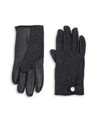UGG   Black Smart Wool Blend Gloves for Men   Lyst