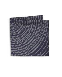 Hook + Albert | Gray Frankie Dotted Silk Pocket Square for Men | Lyst