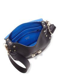 Furla - Multicolor Club Grommeted Leather Saddle Crossbody Bag - Lyst