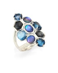 Ippolita | Blue Rock Candy? Eclipse Mixed Stone & Sterling Silver Ring | Lyst