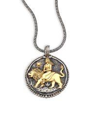 Konstantino | Metallic Diamond, 18k Yellow Gold & Sterling Silver Zodiac Aries Pendant | Lyst