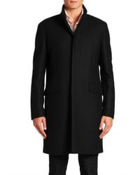 Theory | Black Belvin Button-down Coat for Men | Lyst