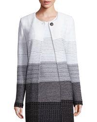 St. John | Multicolor Linear Degrade Knit Topper | Lyst