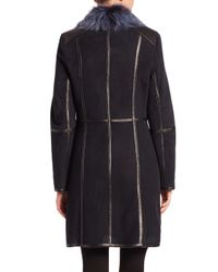Saks Fifth Avenue - Blue Toscana Lamb Fur & Shearling Coat - Lyst