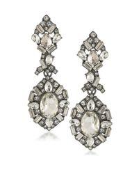 ABS By Allen Schwartz   Metallic Embellished Chandelier Earrings   Lyst