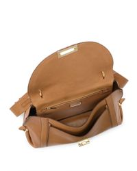 Ferragamo - Brown Large Suzanna Leather Top-handle Bag - Lyst
