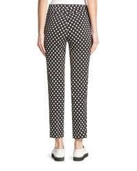 Akris Punto - Black Franca Dot-print Ankle Pants - Lyst