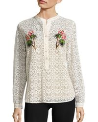 Stella McCartney   Natural Embroidered Lace Shirt   Lyst