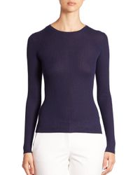 Michael Kors | Purple Featherweight Cashmere Crewneck Sweater | Lyst