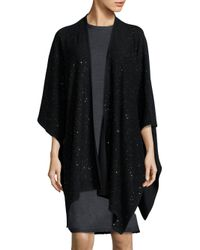 St. John | Multicolor Bristol Sequin Wool Knit Wrap | Lyst
