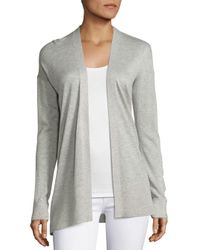 Saks Fifth Avenue | Gray Silk & Cashmere Open Cardigan | Lyst