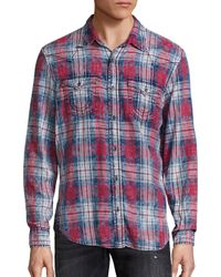True Religion | Brown Western Plaid Button-down Shirt for Men | Lyst