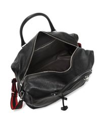 Alexander McQueen - Black Hold All Leather Weekender Bag for Men - Lyst