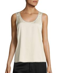 VINCE | Natural Raw Edge Trimmed Tank | Lyst