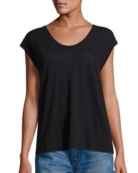 VINCE | Black Solid Muscle Pima Cotton Tee | Lyst