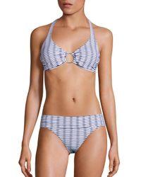 Melissa Odabash | Blue Brussels Halter Bikini Top | Lyst
