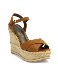 Stuart Weitzman - Multicolor Sundry Suede & Nubuck Wedge Platform Sandals - Lyst