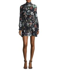 Nicholas   Multicolor Vintage Silk Floral-print Mini Dress   Lyst
