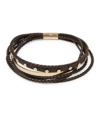 Givenchy | Black Multi-row Braided Leather Choker | Lyst