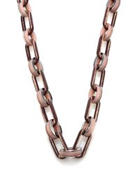 Lafayette 148 New York | Metallic Oval Link Chain Necklace | Lyst