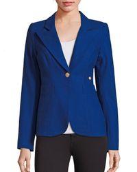 Smythe   Blue Duchess Wool Blend Blazer   Lyst